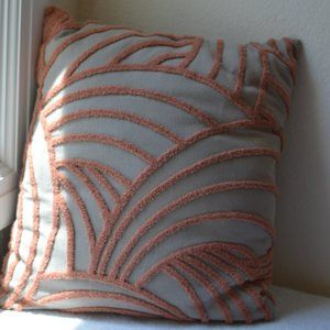 Gray and Mauve Mid Century Pillow